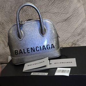 Balenciaga Ville xxs Metallic Silver